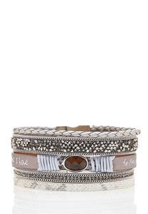 Inspirational Mixed Strap Bracelet