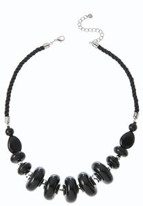 Beaded Twisted Cord Necklace