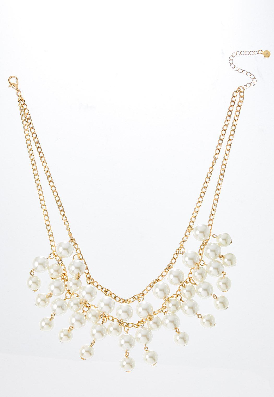 Shaky Pearl Bib Necklace