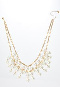 Shaky Pearl Bib Necklace