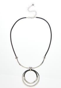 Layered Circle Cord Necklace