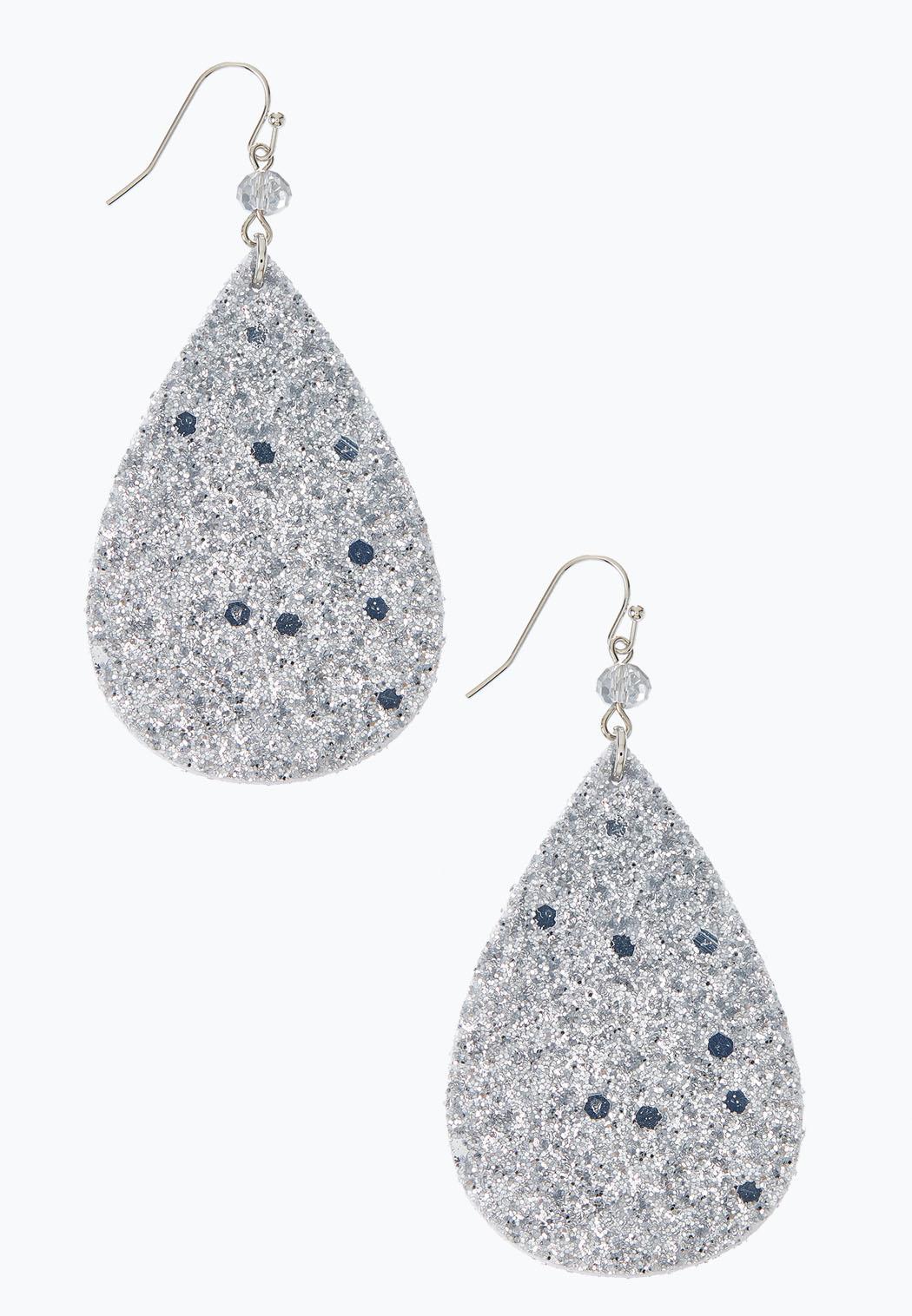 Glittery Tear Earrings