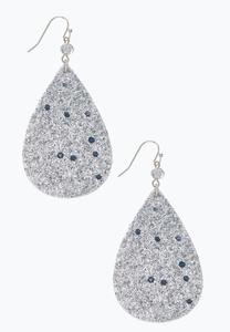Glittery Tear Earrings