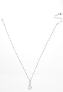 Tear Shaped Cupchain Pendant Necklace