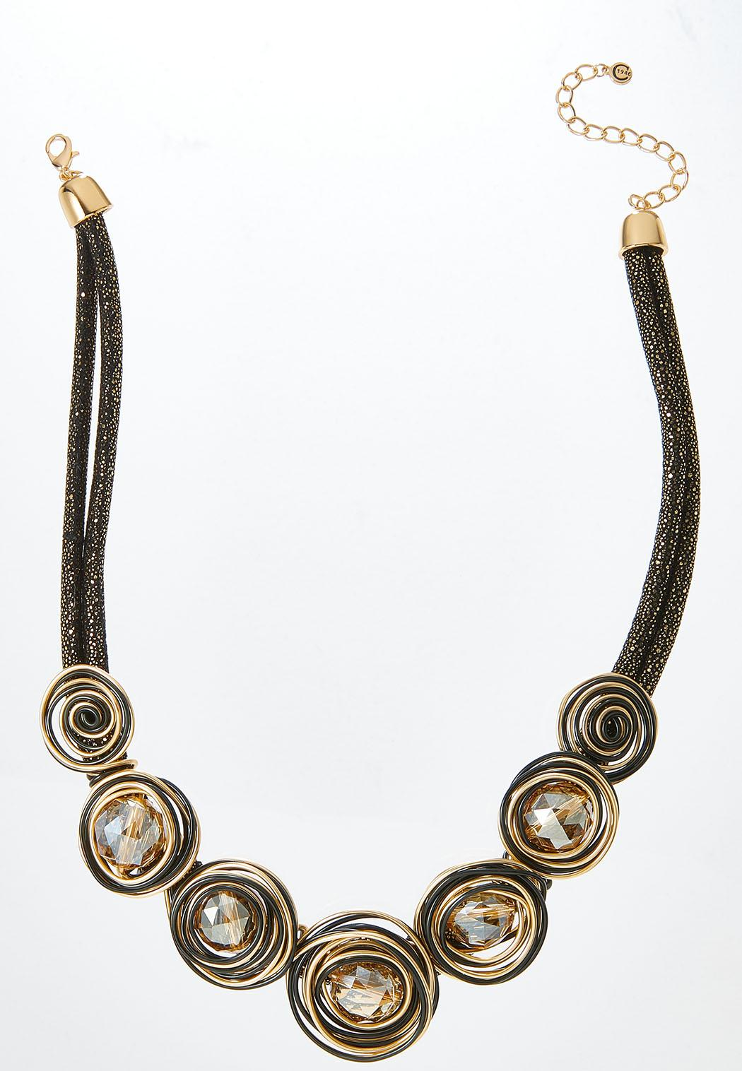 Two-Toned Metallic Cord Necklace