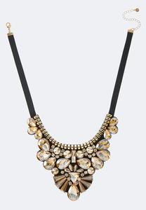 Statement Jewel Ribbon Necklace