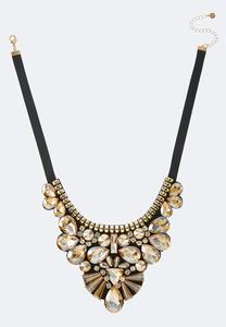 Statement Jewel Ribbon Necklace