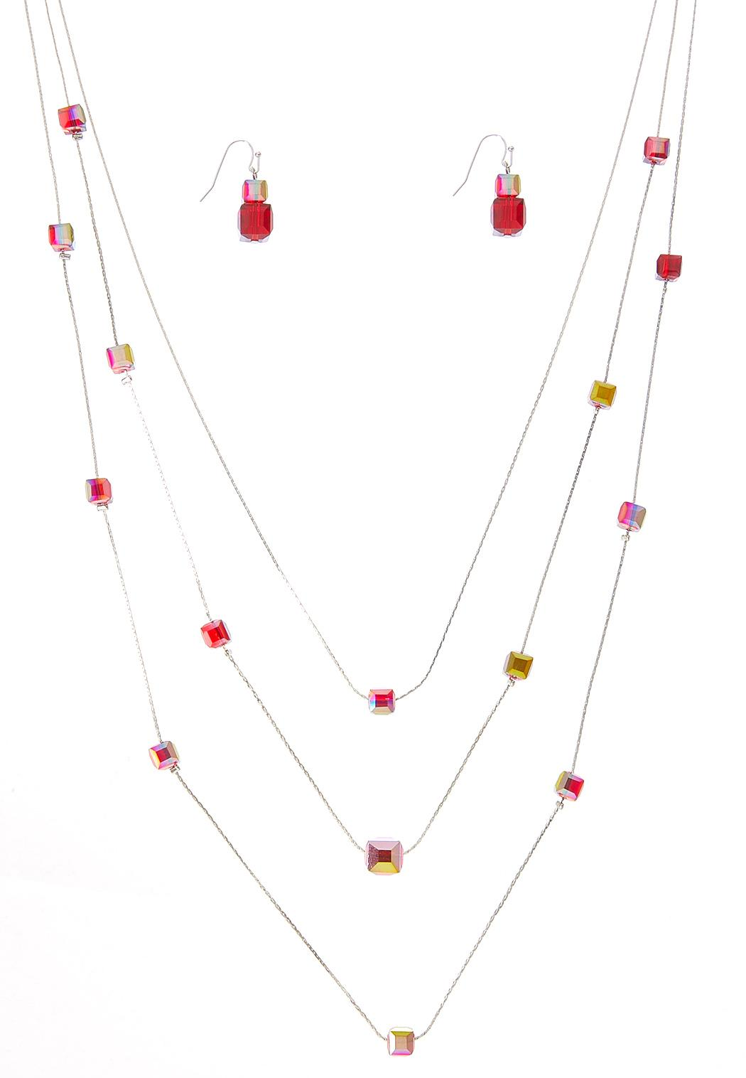 Berry Bead Illusion Necklace