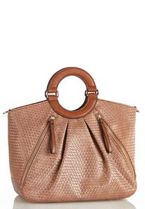 Basketweave Satchel
