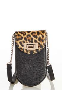 Leopard Cell Crossbody Bag