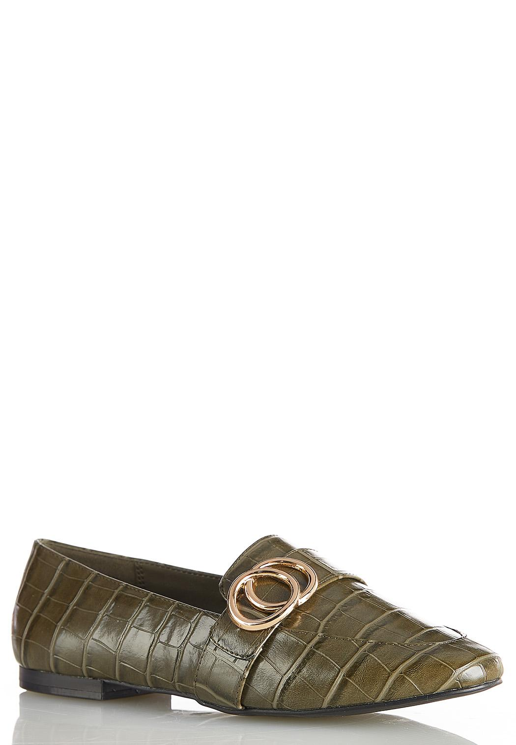 Metal Ring Croc Loafers