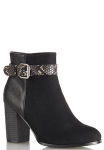 Snake Belt Ankle Boots