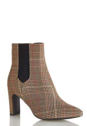 Plaid Ankle Boots