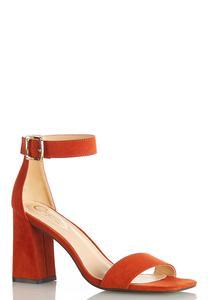 Orange Ankle Strap Sandal