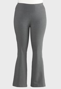 Plus Size Charcoal Yoga Pants