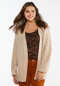 Balloon Sleeve Cardigan Sweater
