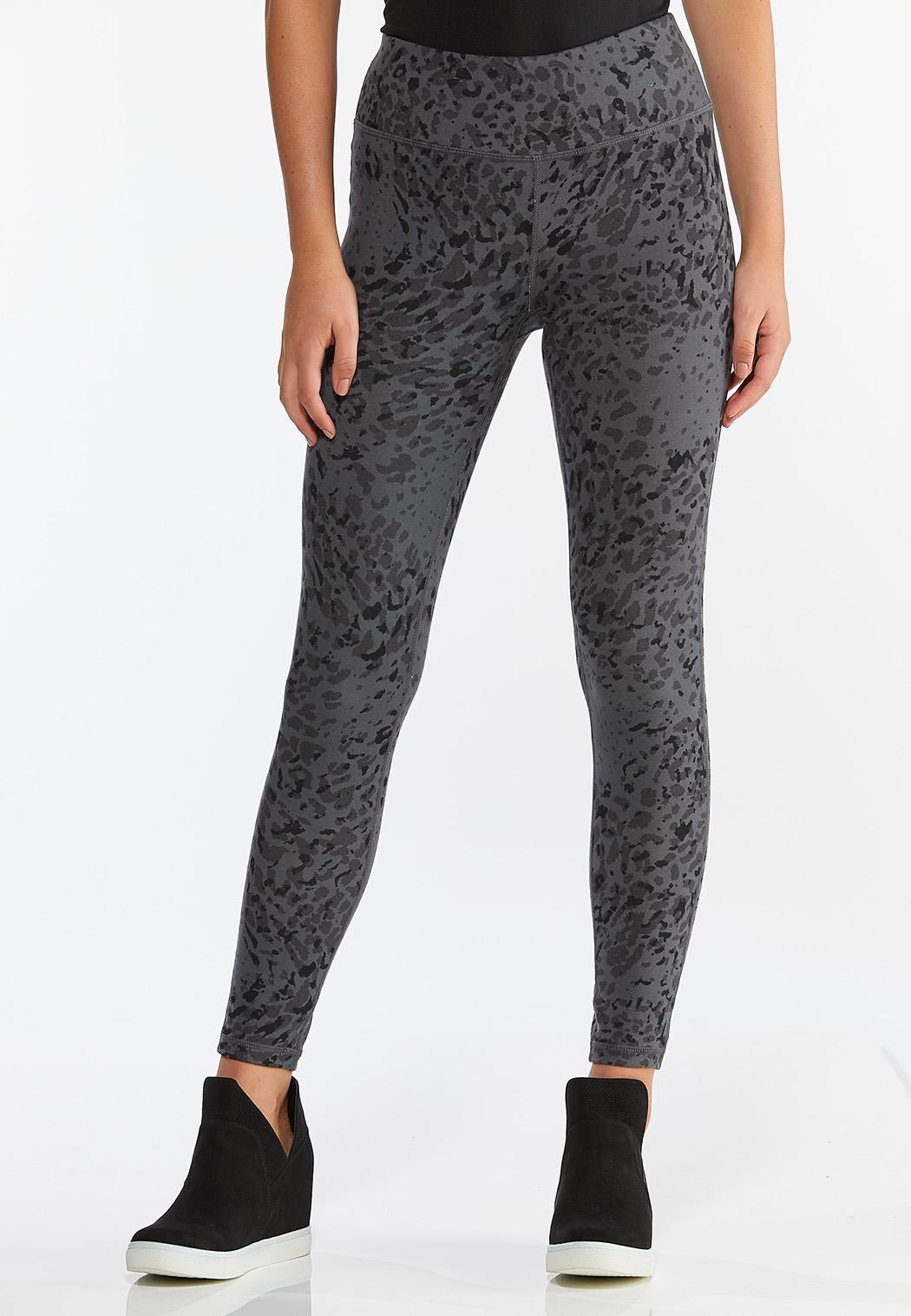 Gray Leopard Leggings