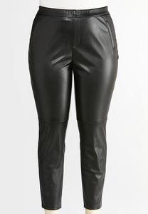 Plus Size Faux Leather Leggings