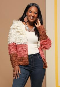 Loop Colorblock Cardigan Sweater