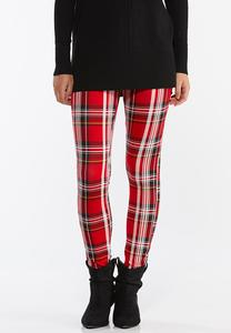 Holiday Plaid Ponte Pants