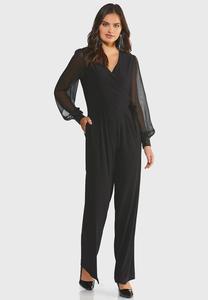 Dressy Sheer Sleeve Jumpsuit