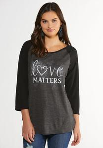 Plus Size Love Matters Top