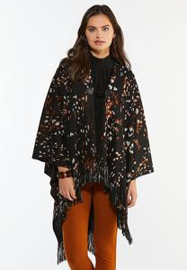 Animal Poncho Sweater