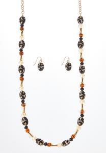 Acrylic Leopard Necklace Earring Set