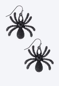 Creepy Textured Spider Earrings