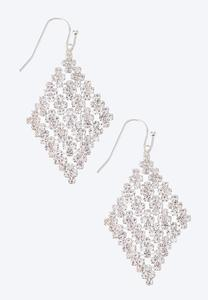 Diamond Rhinestone Earrings