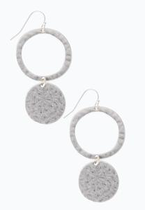 Hammered Disk Earrings
