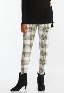 Golden Plaid Leggings