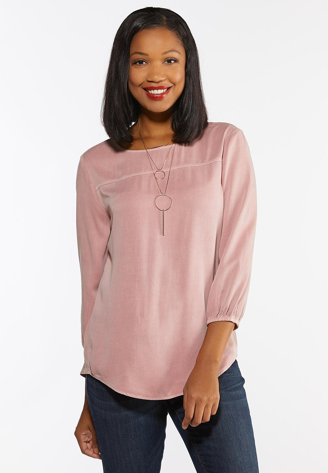 Rose Button Back Top