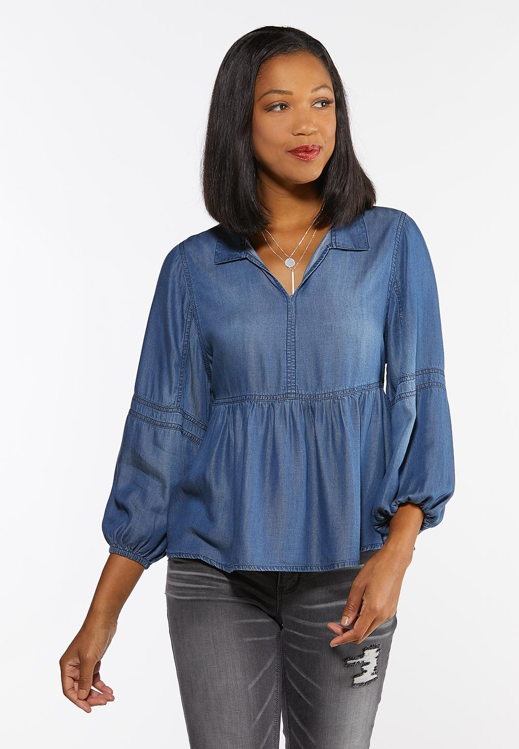Chambray Peplum Top Tops Cato Fashions 28,913 results for peplum tops. chambray peplum top tops cato fashions