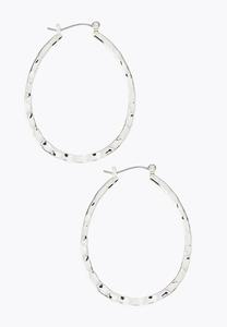Hammered Flat Hoop Earrings