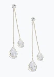 Sparkling Linear Stone Earrings