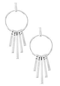 Circle Dangle Bar Earrings