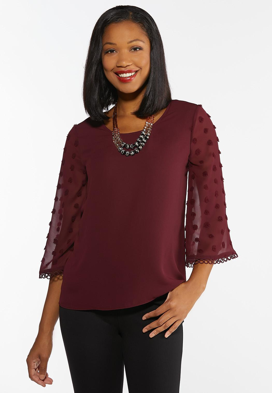 Dotted Bell Sleeve Top
