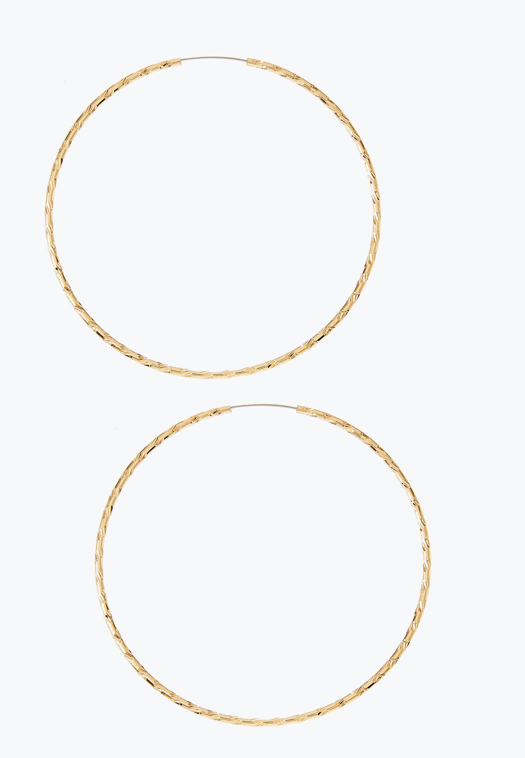 Thin Twisted Gold Hoop Earrings