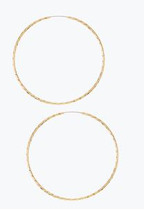 Thin Twisted Gold Hoop Earrings