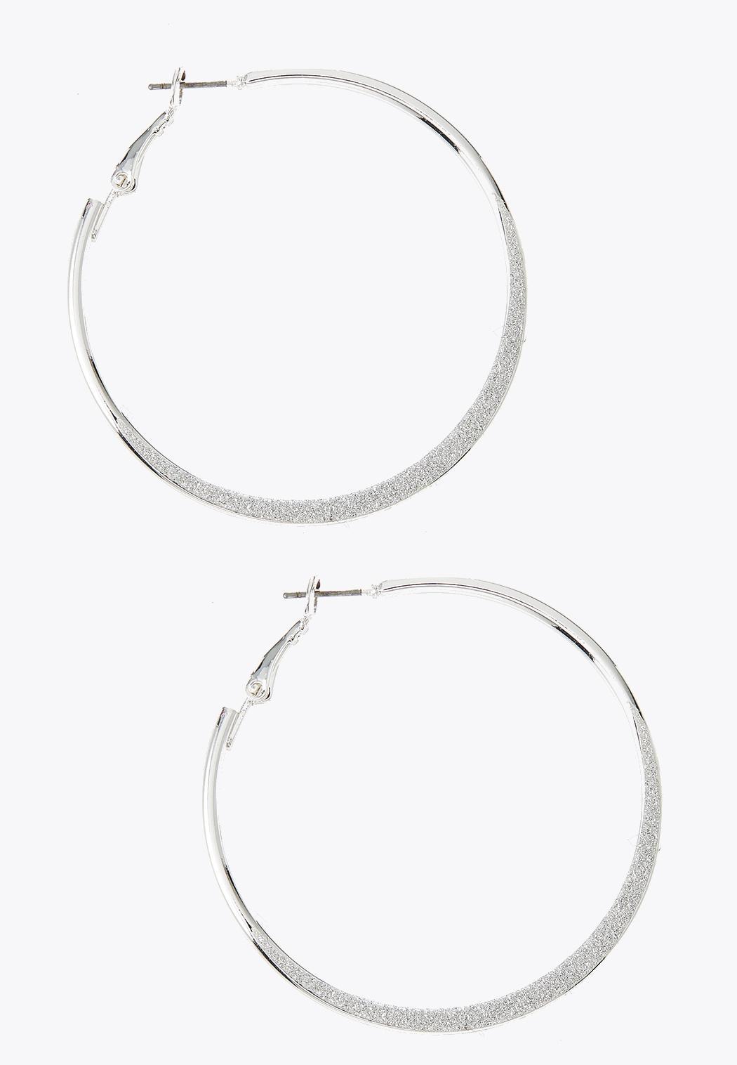Glittery Hoop Earrings
