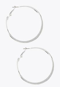 Glittery Hoop Earrings