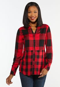 Mixed Buffalo Plaid Shirt