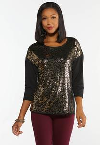 Animal Sequin Top