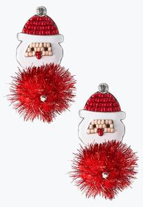 Santa Puff Ball Earrings
