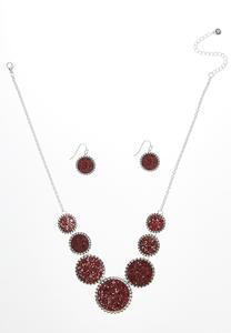 Glitter Necklace Earring Set