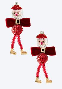Santa Velvet Bow Earrings