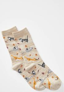 Playful Cat Crew Socks