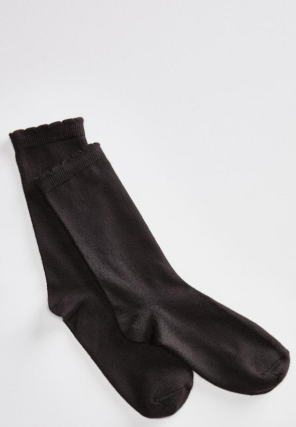 Ruffled Top Crew Socks