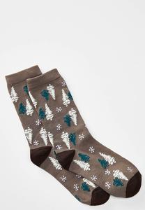 Tree Print Socks